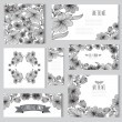 Floral cards set — Stock Vector #54390935