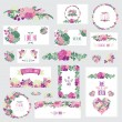 Floral cards set — Stock Vector #54390991
