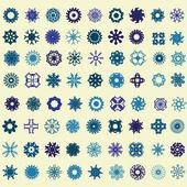 Sada sněhové vločky — Stock vektor