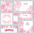 Floral cards set — Stock Vector #55245557