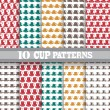 Seamless patterns set — Stock Vector #55527493