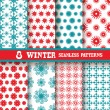 Seamless patterns set — Stock Vector #55527525