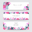 Floral cards set — Stock Vector #59892213