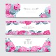 Floral cards set — Stock Vector #59892699