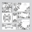 Floral cards set — Stock Vector #59893761