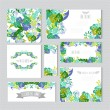 Floral cards set — Stock Vector #60268651