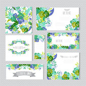 Floral cards set — Stockvektor