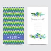 Cartão floral — Vetor de Stock