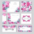 Floral cards set — Stock Vector #62958515