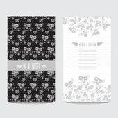 花卉卡 — 图库矢量图片