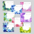 Floral cards set — Stock Vector #63160231