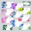 Floral cards set — Stock Vector #63160233
