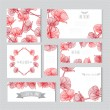 Floral cards set — Stock Vector #63160315