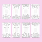 Floral cards set — 图库矢量图片