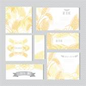 Floral cards set — Vector de stock