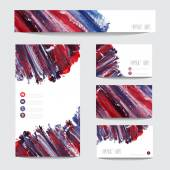 Oil painted business cards — Wektor stockowy