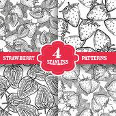 Seamless patterns set — Stock Vector