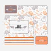 Fruit cards set — Stock Vector