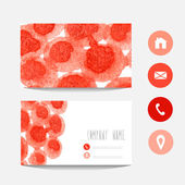 Watercolor business card — Vettoriale Stock