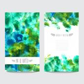Watercolor floral cards set — Stock Vector