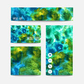 Watercolor business templates — Stock Vector