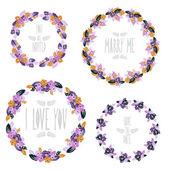Floral frames set — Stock Vector