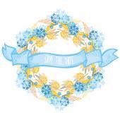 Guirnalda de flores — Vector de stock