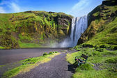 Skogafoss waterfall in Iceland. — Stock Photo