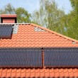Solar pipes on roof — Stock Photo #75397805