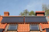 Solar pipes on roof — Stock Photo