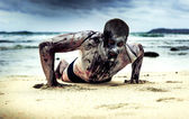 Zombie on the beach — Stock Photo