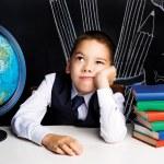 Bored schoolboy — Stock Photo #53687073