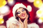 Beautiful woman, Christmas — Stock Photo