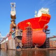 Ship on a dry dock — Stock Photo #54555091