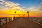 Pier in Gdynia - Orlowo — Foto de Stock