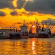 Port of Gdansk at sunset — Stock Photo #54822013