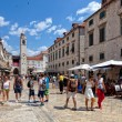 Central street of the Dubrovnik old town, Croatia. — Stock Photo #55367669