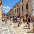 Central street of the Dubrovnik old town, Croatia. — Stock Photo #55367671