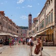 Central street of the Dubrovnik old town, Croatia. — Stock Photo #55379033