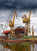Industry cranes — Stock Photo