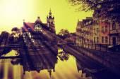 Gdansk in retro style — Stockfoto
