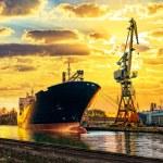 Ship and Crane — Stock Photo #59153175