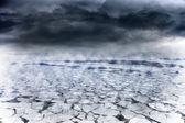 Vintern marinmålning — Stockfoto