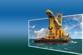 Frame with crane — Foto de Stock