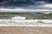 Sea in a storm — Stock Photo