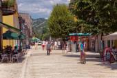 Tourists in Cetinje — Stock Photo