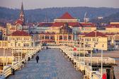Pier in Sopot at morning — Stock Photo