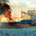 Burning ship — Stock Photo #70673137