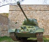 T34 Soviet tank — Stock Photo