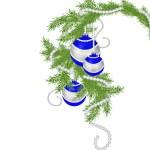 Fur-tree branch with Christmas balls — Stock Photo #69202819